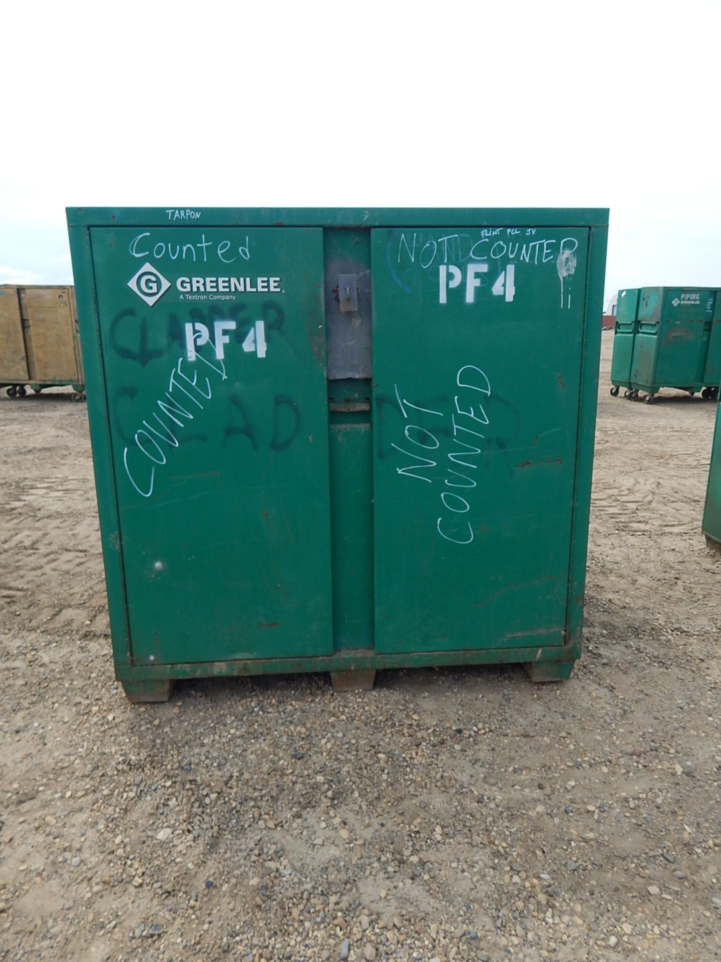 LOT/ (2) GREENLEE 2-DOOR JOB BOX CABINETS - Image 3 of 4