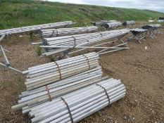 LOT/ ASSORTED SCAFFOLDING TUBES