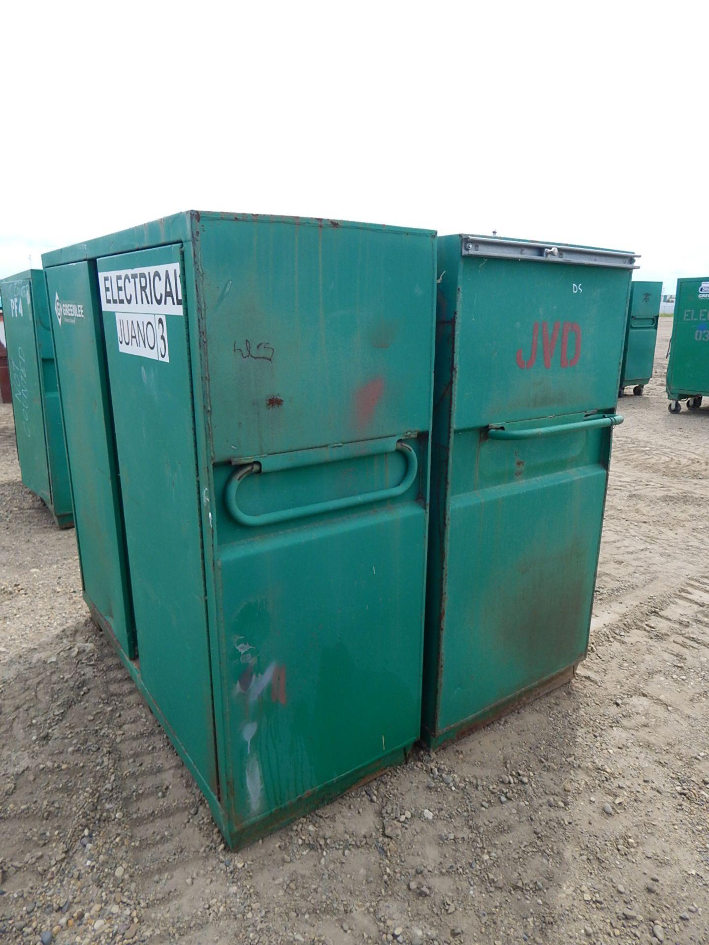 LOT/ (2) GREENLEE 2-DOOR JOB BOX CABINETS - Image 4 of 4