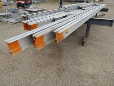 LOT/ ALUMINUM I-BEAM WITH LENGTHS UP TO 26'