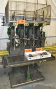 CHAS G. ALLEN CO. 4 STATION DRILL PRESS WITH 5 HP (X4), S/N: D342 (CI) [RIGGING FEES FOR LOT #