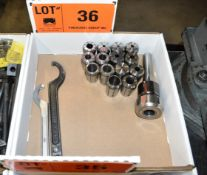 LOT/ MILLING HEAD WITH COLLETS