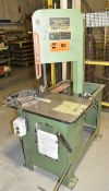 "VERTICUT 115B ROLL-IN VERTICAL BAND SAW WITH 30""X18"" TABLE, 13"" THROAT, 10"" MAX. WORK HEIGHT, S/N:"