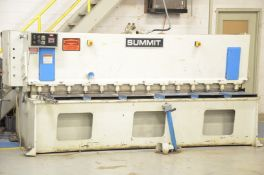 "SUMMIT HYDRAULIC SHEAR WITH 128""X0.23"" CAPACITY, S/N: N/A (CI) [RIGGING FEES FOR LOT #57 - $750"