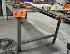 STEEL WELDING TABLE (DELAYED DELIVERY) [RIGGING FEES FOR LOT #18 - $25 USD PLUS APPLICABLE TAXES]