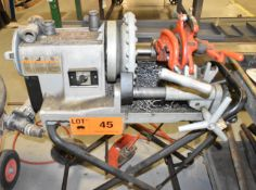 LOT/ RIDGID 300 COMPACT PORTABLE PIPE THREADER WITH PIPE THREADING TOOLS [RIGGING FEES FOR LOT #45 -