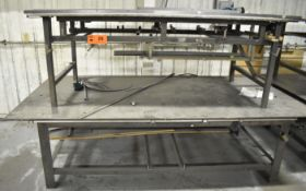LOT/ (2) STEEL WELDING TABLES [RIGGING FEES FOR LOT #20 - $25 USD PLUS APPLICABLE TAXES]