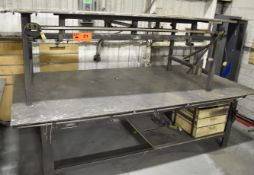 LOT/ (2) STEEL WELDING TABLES [RIGGING FEES FOR LOT #21 - $25 USD PLUS APPLICABLE TAXES]