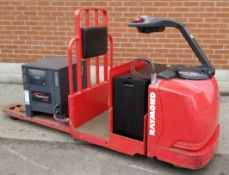 RAYMOND (2008) 8500 24V ELECTRIC RIDE-ON PALLET TRUCK WITH 6000 LB. CAPACITY, 593 HOURS (RECORDED AT