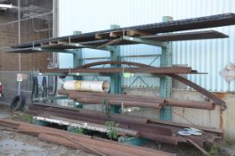 LOT/ CANTILEVER RACKING WITH STOCK STEEL, PIPE, FLAT, ANGLE, TUBING AND MORE [RIGGING FEES FOR