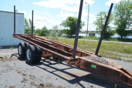 TANDEM AXLE LOG TRAILER (OFF-ROAD/YARD TRAILER ONLY - NOT PLATED) [RIGGING FEES FOR LOT #844 - $