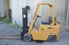 """CLARK GC500 4,000 LBS CAPACITY LPG FORKLIFT WITH 128"""" MAX VERTICAL REACH, LOW HEIGHT MAST, CUSHION"""
