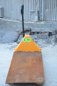 LIFTRITE HYDRAULIC PALLET TRUCK WITH PLATFORM, S/N N/A [RIGGING FEES FOR LOT #838 - $60 USD PLUS