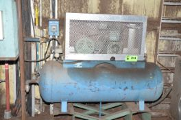 INGERSOLL RAND 15HP TANK MOUNTED PISTON TYPE AIR COMPRESSOR, S/N N/A [RIGGING FEES FOR LOT #814 - $