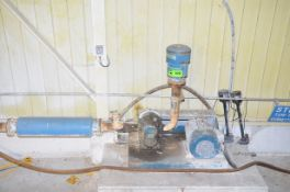 ANDERSON AIR BLOWER WITH 3HP ELECTRIC DRIVE MOTOR, S/N N/A [RIGGING FEES FOR LOT #820 - $150 USD