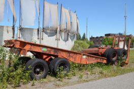 MFG UNKOWN LOG TRAILER, S/N N/A (OFF-ROAD/YARD TRAILER ONLY - NOT PLATED) [RIGGING FEES FOR LOT #850
