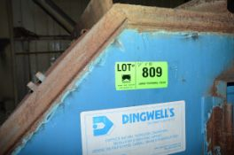 """DINGWELLS 24"""" X 80' APROX. POWERED HORIZONTAL BELT CONVEYOR WITH DISCHARGE CHUTE, S/N N/A [RIGGING"""