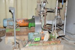 LOT/ BROKE THICKENER FILTRATE SYSTEM CONSISTING OF: GOULDS CORROSION RESISTANT PUMP;