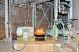 GOULDS CORROSION RESISTANT CENTRIFUGAL PUMP WITH ELECTRIC DRIVE MOTOR, S/N N/A [RIGGING FEES FOR LOT