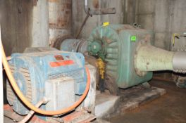 MFG UNKNOWN CHIP BLOWER WITH 300 HP ELECTRIC DRIVE MOTOR, S/N N/A [RIGGING FEES FOR LOT #815 - $