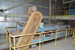 """DINGWELLS 42""""X22.5' APPROX. TRACK MOUNTED HORIZONTAL TRAVERSING POWERED BELT CONVEYOR WITH DISCHARGE"""