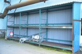 LOT/ (3) SECTIONS MEDIUM DUTY COVERED PALLET RACKING [RIGGING FEES FOR LOT #839 - $150 USD PLUS