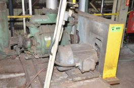 NASH CL-1002 VACUUM PUMP WITH 50 HP INDIRECT BELT DRIVE ELECTRIC DRIVE MOTOR, S/N 75C0177 [RIGGING