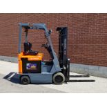 """TOYOTA (2003) 7FBCU15 48V ELECTRIC FORKLIFT WITH 3000 LB. CAPACITY, 189"""" MAX. VERTICAL LIFT,"""