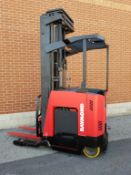 "RAYMOND (2004) 7400-R45TT 36V ELECTRIC REACH TRUCK WITH 4500 LB. CAPACITY, 268"" MAX. VERTICAL"
