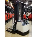 """CROWN (2014) SH5520-40 24V ELECTRIC WALK-BEHIND STACKER TRUCK WITH 4000 LB. CAPACITY, 128"""" MAX."""