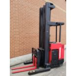 """RAYMOND (2006) DR30TT 36V ELECTRIC REACH TRUCK WITH 3000 LB. CAPACITY,272"""" MAX. LIFT HEIGHT, 11,"""