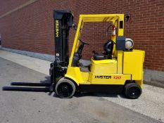 """HYSTER (2005) S120XMS LPG FORKLIFT WITH 10,700 LB. CAPACITY, 185"""" MAX. VERTICAL LIFT, SIDE SHIFT,"""