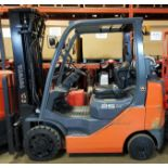 """TOYOTA (2009) 8FGCU25 LPG FORKLIFT WITH 5000 LB. CAPACITY, 198"""" MAX. VERTICAL LIFT, SIDE SHIFT,"""