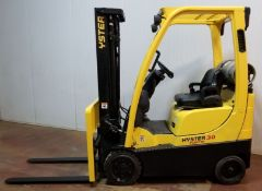 """HYSTER (2006) S30FT LPG FORKLIFT WITH 3000 LB. CAPACITY, 187"""" MAX. VERTICAL LIFT, SIDE SHIFT,"""