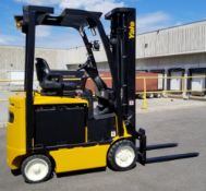 """YALE (2012) ERC040VAN48TE094 48V ELECTRIC FORKLIFT WITH 4000 LB. CAPACITY, 216"""" MAX. VERTICAL"""