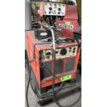 CANOX C-650-DW MIG WELDER WITH CANOX JA-47 TWIN REEL WIRE FEEDER, CABLES & GUN, S/N: UB525609 (NO