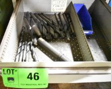 LOT/ CONTENTS OF DRAWER - TAPER SHANK DRILLS