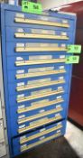 LOT/ EQUIPTO 12 DRAWER TOOL CABINET WITH REMAINING CONTENTS (DELAYED DELIVERY)
