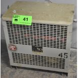 MARCUS TRANSFORMER WITH 45 KVA, 120/208LV, 600HV, 3 PH (CI) (LOCATED IN KITCHENER, ON)