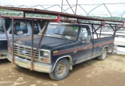 FORD F150 PICKUP TRUCK WITH ROOFTOP WORK PLATFORM, S/N VIN N/A (OFF ROAD ONLY YARD TRUCK - NOT