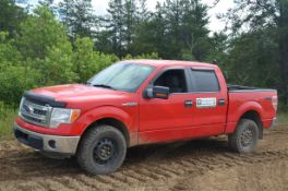 FORD (2013) F150 XLT CREW CAB PICKUP TRUCK WITH 5.0LITER V8 GAS ENGINE, AUTO TRANSMISSION, 4X4,