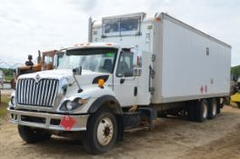 INTERNATIONAL (2008) 7400SBA 6X4 TANDEM AXLE CUBE TRUCK WITH MAXFORCE 466 DT 7.6LITER TURBO DIESEL