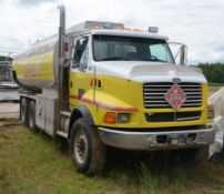FORD (1997) LT9513 LOUISVILLE 6X4 TANDEM AXLE FUEL TANKER TRUCK WITH CATERPILLAR C-12 11.9LITER