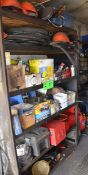 LOT/ BALANCE OF SHELVES WITH CONTENTS AND AUTOMOTIVE SPARE PARTS
