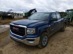 GMC (2017) SIERRA 1500 EXTENDED CAB FOUR DOOR PICKUP TRUCK WITH 4.3LITER V8 GAS ENGINE, AUTO