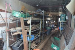LOT/ STORAGE TRAILER WITH CONTENTS - RAW MATERIALS