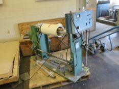 """MFG. UNKOWN SINGLE SHAFT WINDER WITH 20"""" CAPACITY, MAG POWER WEB TENSION CONTROLLER, S/N: N/A ["""