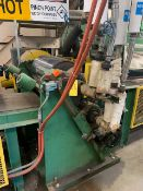 2 ROLL CALENDAR WITH GEAR BOX, CORED ROLLS (NO MOTOR), S/N: N/A (CI) [RIGGING FEES FOR LOT #50 - $