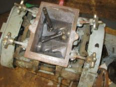"""BAKER PERKINS MODEL 50670 DOUBLE ARM MIXER, APPROX. 7.5"""" X 5.5""""X 6, S/N: N/A [RIGGING FEES FOR"""