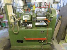 """STEWART BOLLING & CO MODEL 5405 2 ROLL MILL WITH APPROX. 8""""X 14"""" CAPACITY, MANZEL LUBRICATOR, 15"""